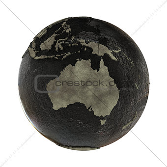 Australia on Earth of oil