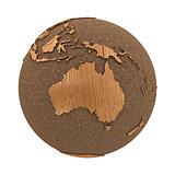 Australia on wooden planet Earth