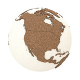 North America on light Earth
