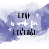 Inspirational quote watercolor background