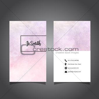 Watercolor business card design