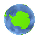 Antarctica on green Earth