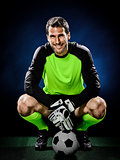 goalkeeper soccer man isolated
