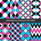 Colorful ornamental patterns - seamless.