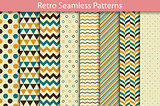 Retro patterns - seamless vector collection.