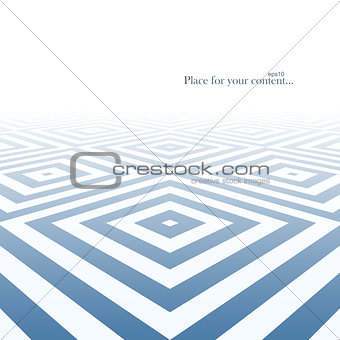 Abstract background with blue geometric shapes.