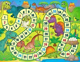 Board game with dinosaur theme 1