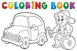 Coloring book car mechanic theme 1