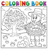 Coloring book farmer with harvest 3
