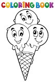 Coloring book ice cream 1