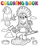 Coloring book Indian theme image 2