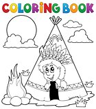 Coloring book Indian theme image 3