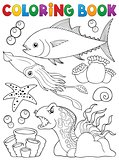 Coloring book marine life theme 1