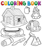 Coloring book outdoor objects collection
