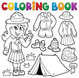 Coloring book scout thematics 1