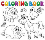 Coloring book with farm animals 4