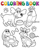 Coloring book with pets 3