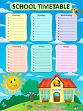 Weekly school timetable theme 2