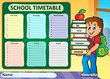 Weekly school timetable theme 3
