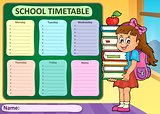 Weekly school timetable theme 4