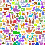 Shopping icons pattern with theme for sale, advertising and design.