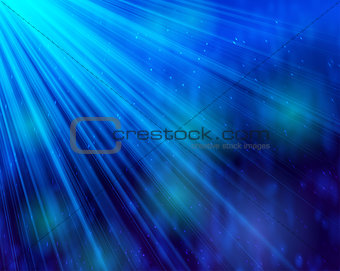 Abstract background light and shine bokeh deep blue