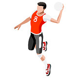 Handball 2016 Sports 3D Isometric Vector Illustration