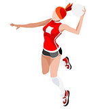 Handball 2016 Sports Isometric 3D Vector Illustration