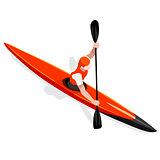 Kayak Sprint 2016 Sports Isometric 3D Vector Illustration