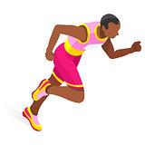Running 2016 Sports 3D Isometric Vector Illustration
