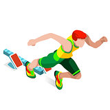 Running 2016 Sports Isometric 3D Vector Illustration