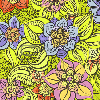 Bright floral illustration