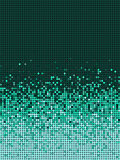 bubble gradient pattern in green and mint