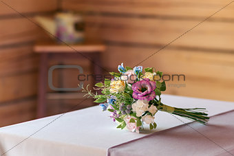 Beautiful wedding bouquet made of polymer clay.