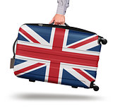 Modern suitcase Union Jack design