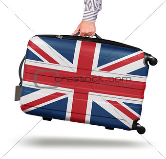 Modern suitcase Union Jack design