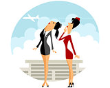 Two stewardess in airport