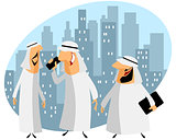 Three arabic businessmen