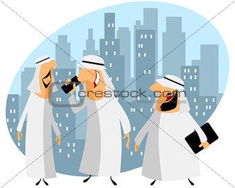 Three arabic businessmen