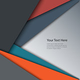 Abstract retro color triangles background
