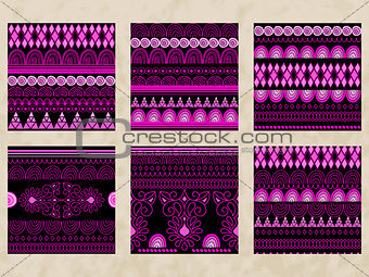 4 Vector Tribal Seamless Patterns