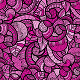 vector seamless ethnic doodle bright floral  pattern