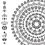 Vector ethnic design elements and rounded pattern