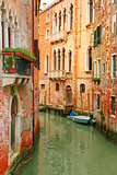 Colorful lateral canal in Venice, Italy