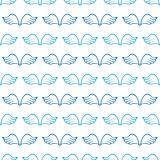 Angel wings seamless sketch pattern