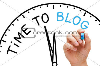 Time to Blog Concept
