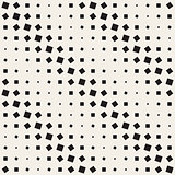 Vector Seamless Black and White Rotating Squares Geometric Halftone Pattern
