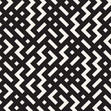 Vector Seamless Black and White Shapes Geometric Jumble Pattern