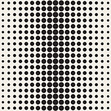 Vector Seamless Black and White Circle Gradient Halftone Pattern