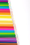Color pencils with white copy space